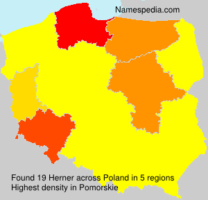 Surname Herner in Poland
