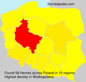 Surname Hernes in Poland