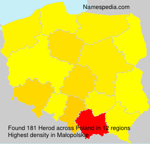 Surname Herod in Poland