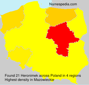 Surname Heronimek in Poland