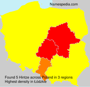 Surname Hintze in Poland