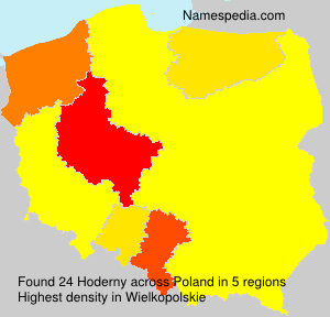 Surname Hoderny in Poland