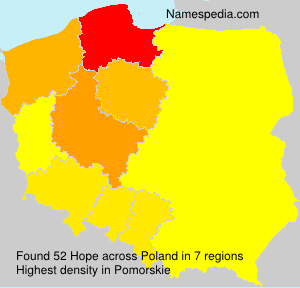 Surname Hope in Poland