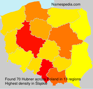 Surname Hubner in Poland