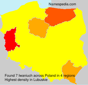 Surname Iwaniuch in Poland