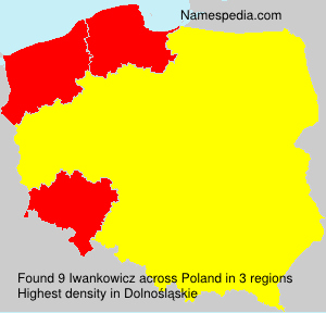 Surname Iwankowicz in Poland