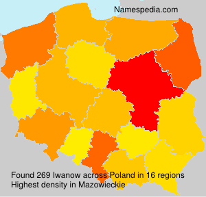 Surname Iwanow in Poland