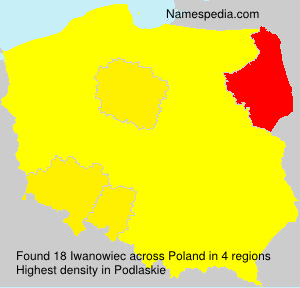 Surname Iwanowiec in Poland