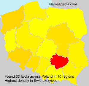 Surname Iwola in Poland
