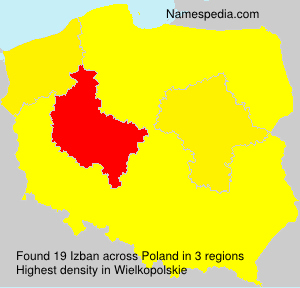 Surname Izban in Poland