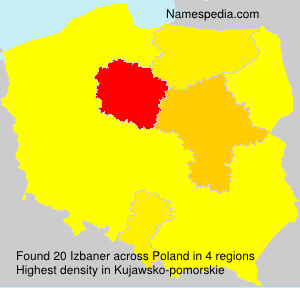 Surname Izbaner in Poland