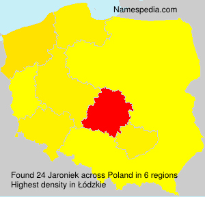 Surname Jaroniek in Poland