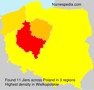 Surname Jiers in Poland
