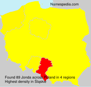 Surname Jonda in Poland