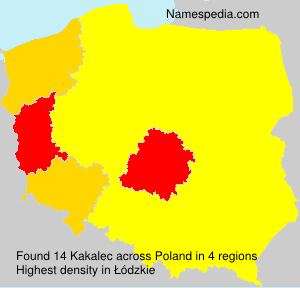 Surname Kakalec in Poland