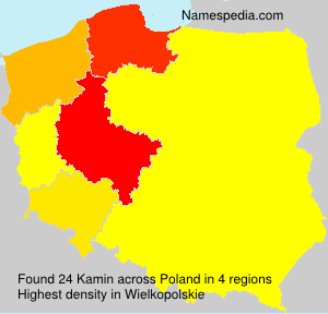 Surname Kamin in Poland