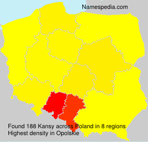 Surname Kansy in Poland