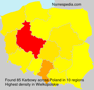 Surname Karbowy in Poland
