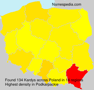 Surname Kardys in Poland