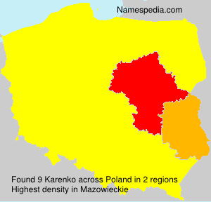 Surname Karenko in Poland