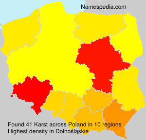Surname Karst in Poland