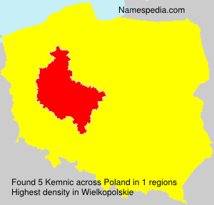 Surname Kemnic in Poland