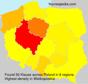 Surname Klause in Poland
