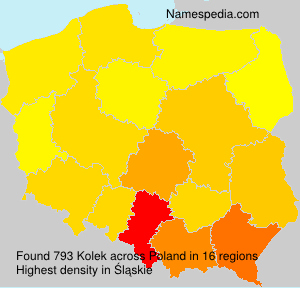 Surname Kolek in Poland