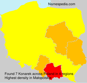Surname Konarek in Poland