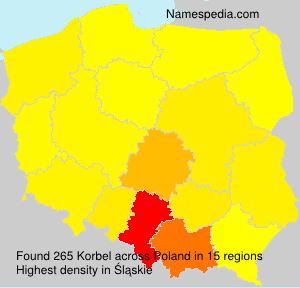 Surname Korbel in Poland