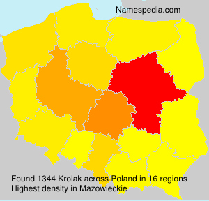 Surname Krolak in Poland