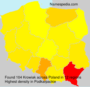 Surname Krowiak in Poland