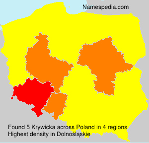 Surname Krywicka in Poland