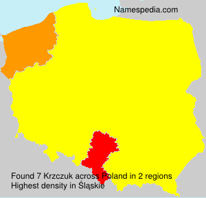 Surname Krzczuk in Poland