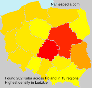 Surname Kuba in Poland