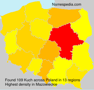 Surname Kuch in Poland