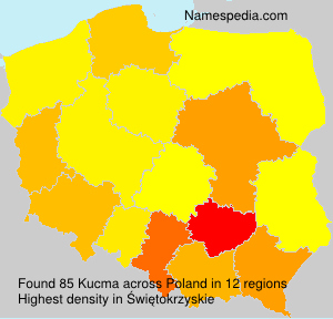 Surname Kucma in Poland