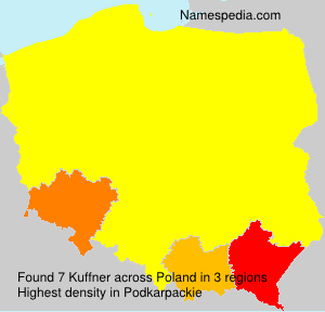 Surname Kuffner in Poland
