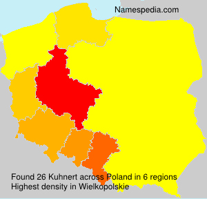 Surname Kuhnert in Poland