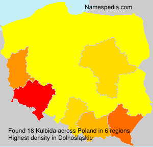 Surname Kulbida in Poland