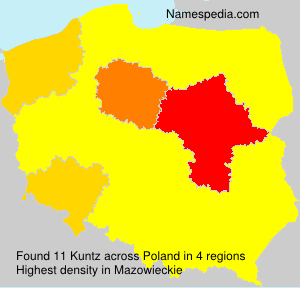 Surname Kuntz in Poland