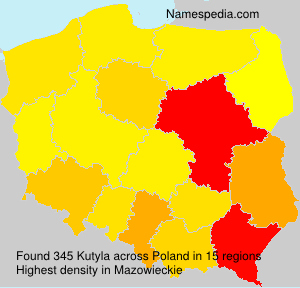 Surname Kutyla in Poland