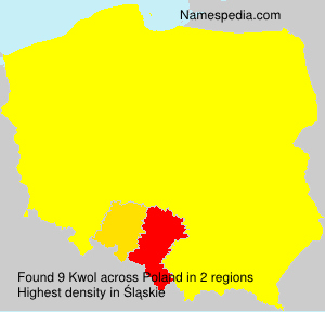 Surname Kwol in Poland