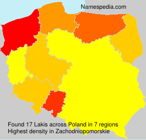 Surname Lakis in Poland