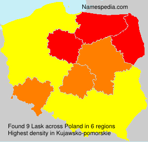 Surname Lask in Poland