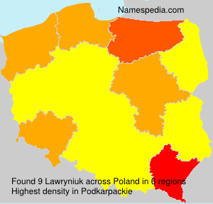Surname Lawryniuk in Poland