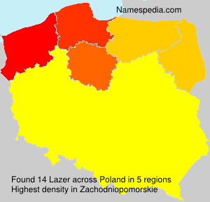 Surname Lazer in Poland