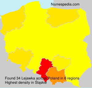 Surname Lejawka in Poland