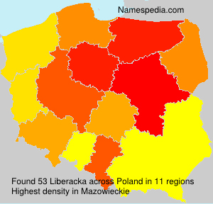 Surname Liberacka in Poland