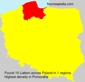 Surname Liebon in Poland